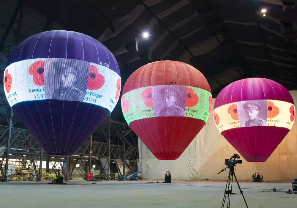 2017 France Hot air Balloon Creative Display
