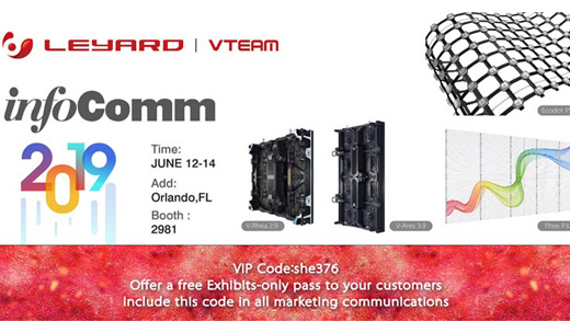 Welcome To Visit Leyard Vteam At Infocomm 2019