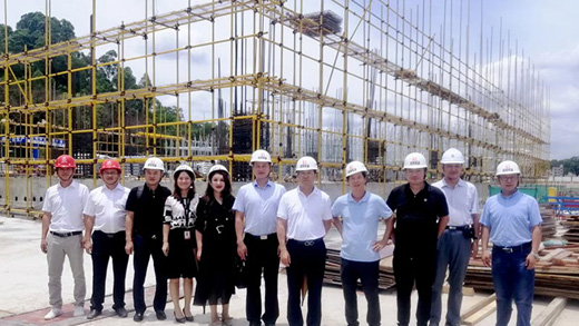 Chairman Li Visited The Construction Site Of The Group's Southern Headquarters