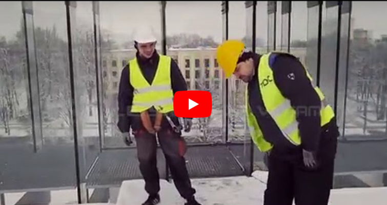 ECO Outdoor Curtain Wall Installation Process-leyard Vteam_batch