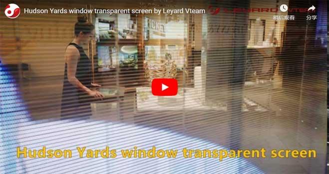 Hudson Yards Transparent LED Window Display By Leyard Vteam