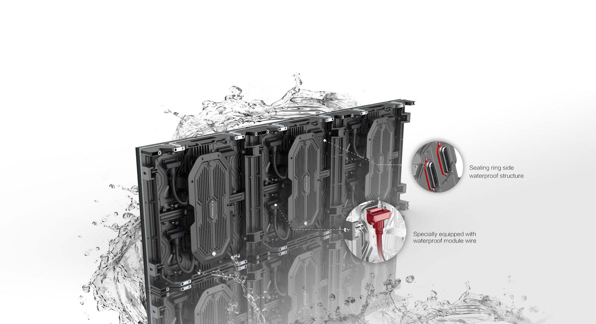 Ultra-high protection | IP66 waterproof structure design