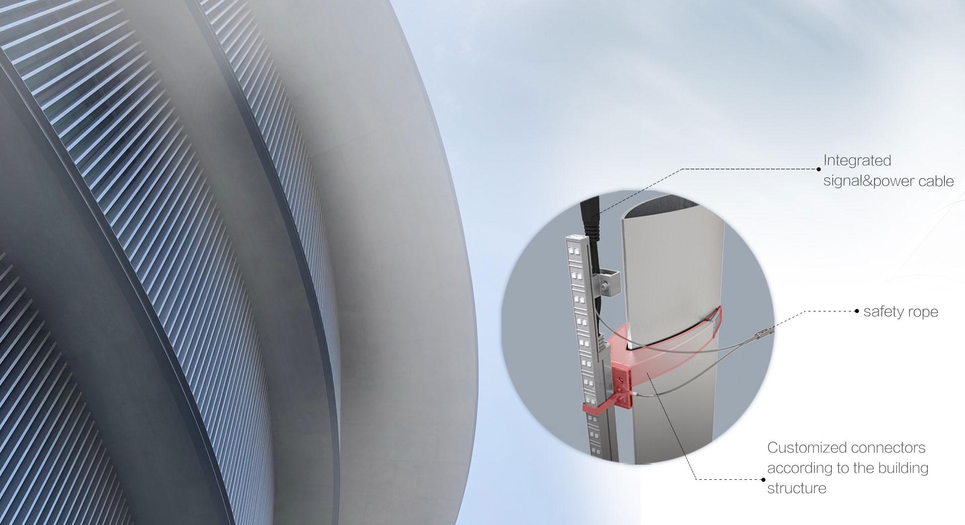 No steel structure, Easy installation & maintenance