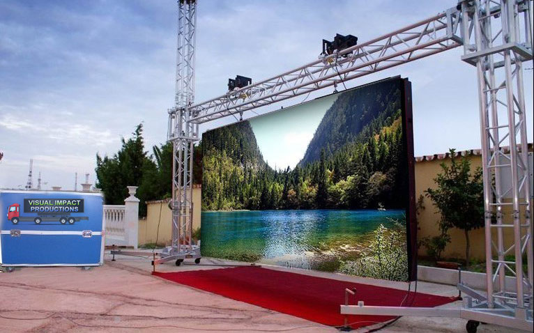 How much does a outdoor led screen cost?