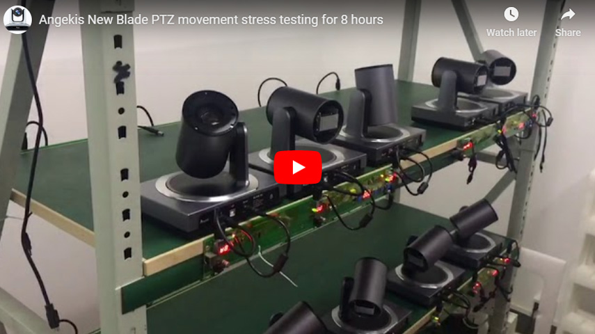 Angekis New Blade PTZ Movement Stress Testing For 8 Hours