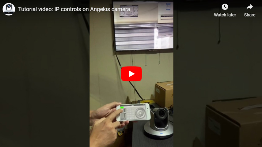 IP Controls on Angekis Camera