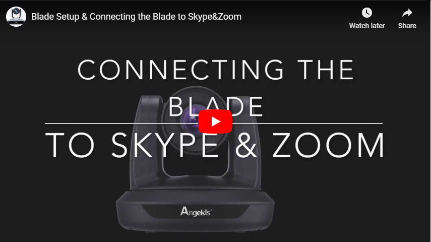 Blade Setup & Connecting the Blade to Skype&Zoom