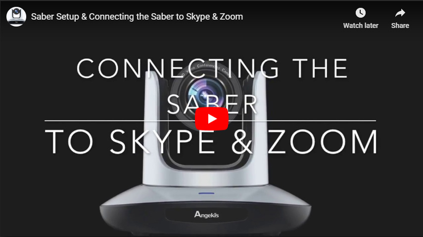 Saber Setup & Connecting the Saber to Skype & Zoom