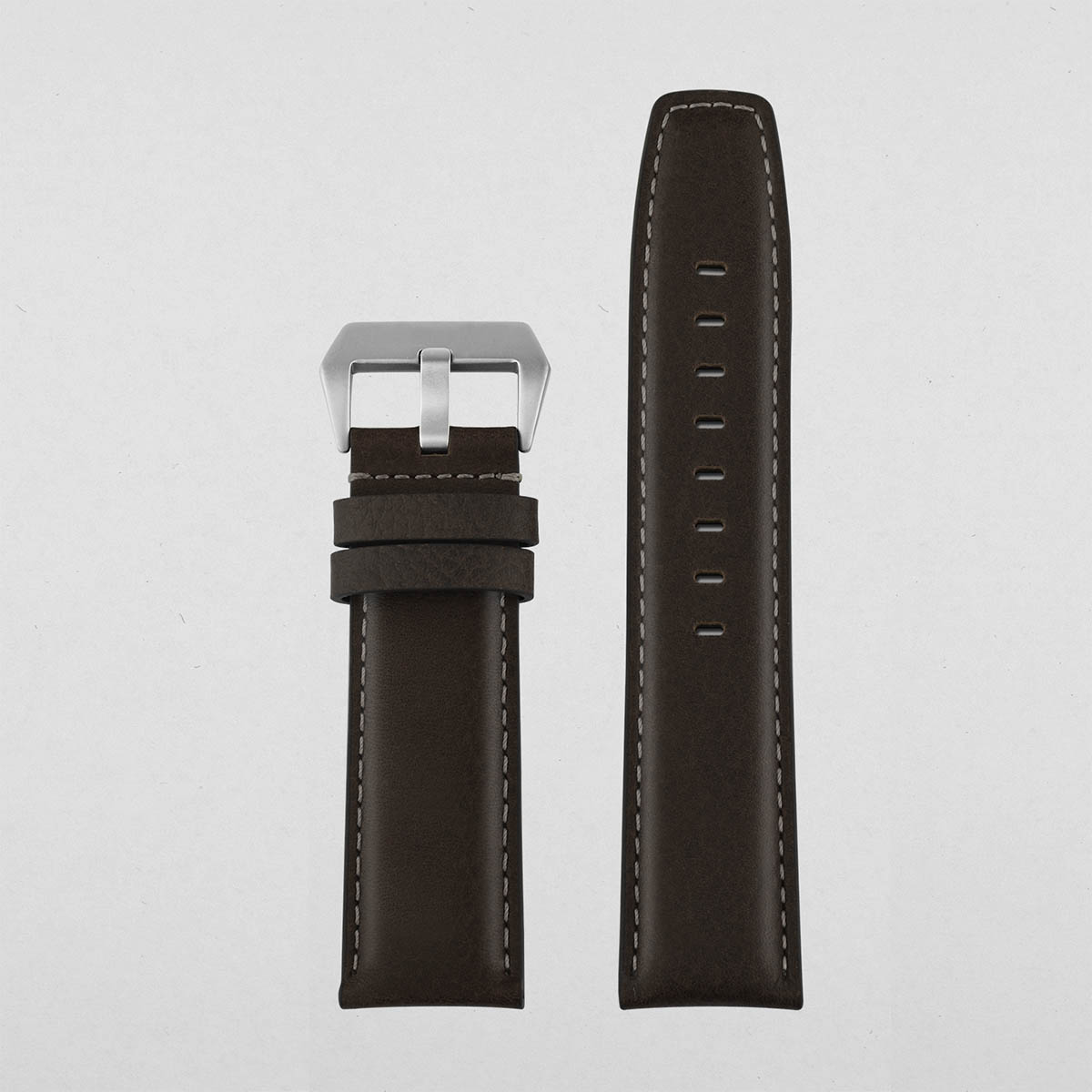 Oil Leather Watch Strap