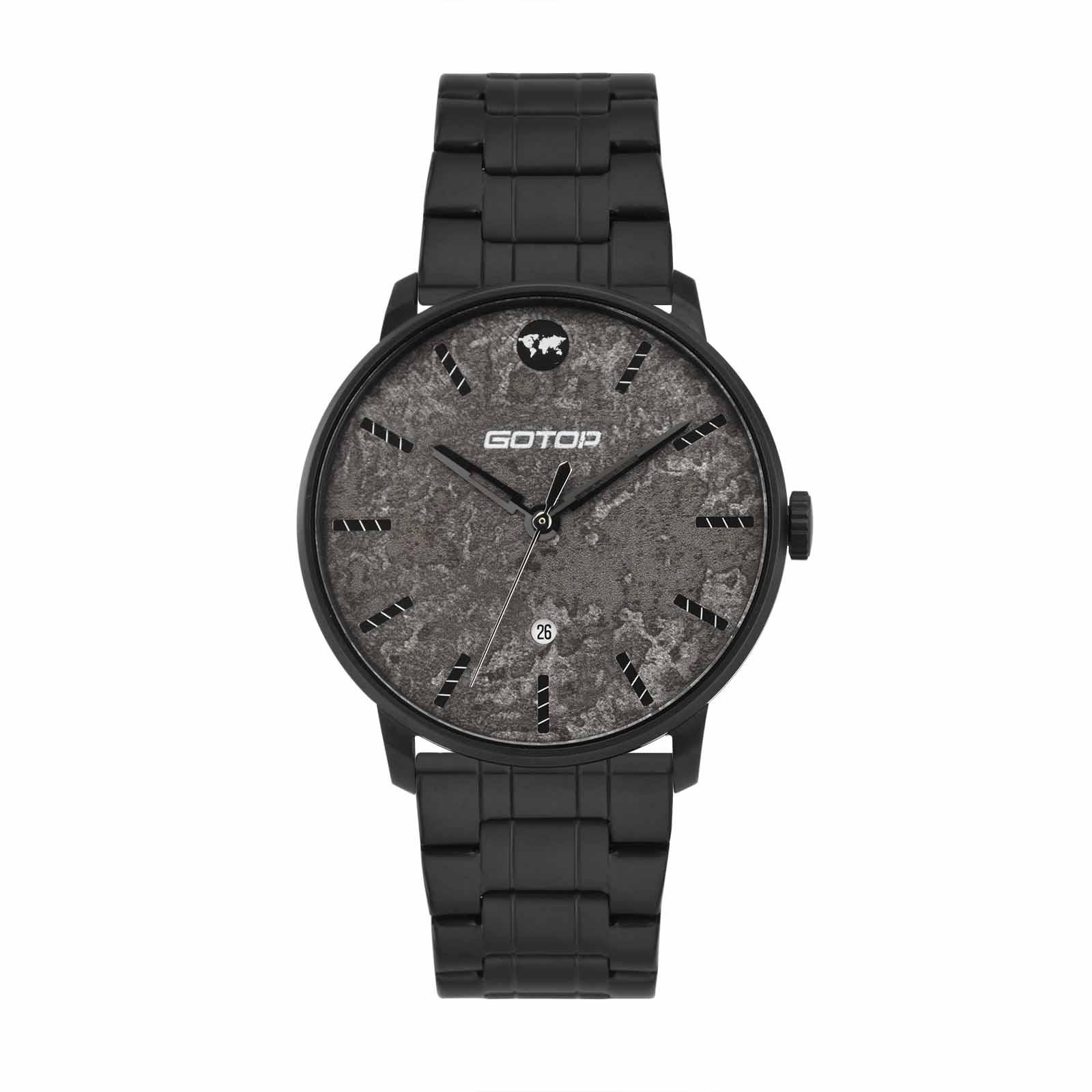 Black Stainless Steel Watch Mens
