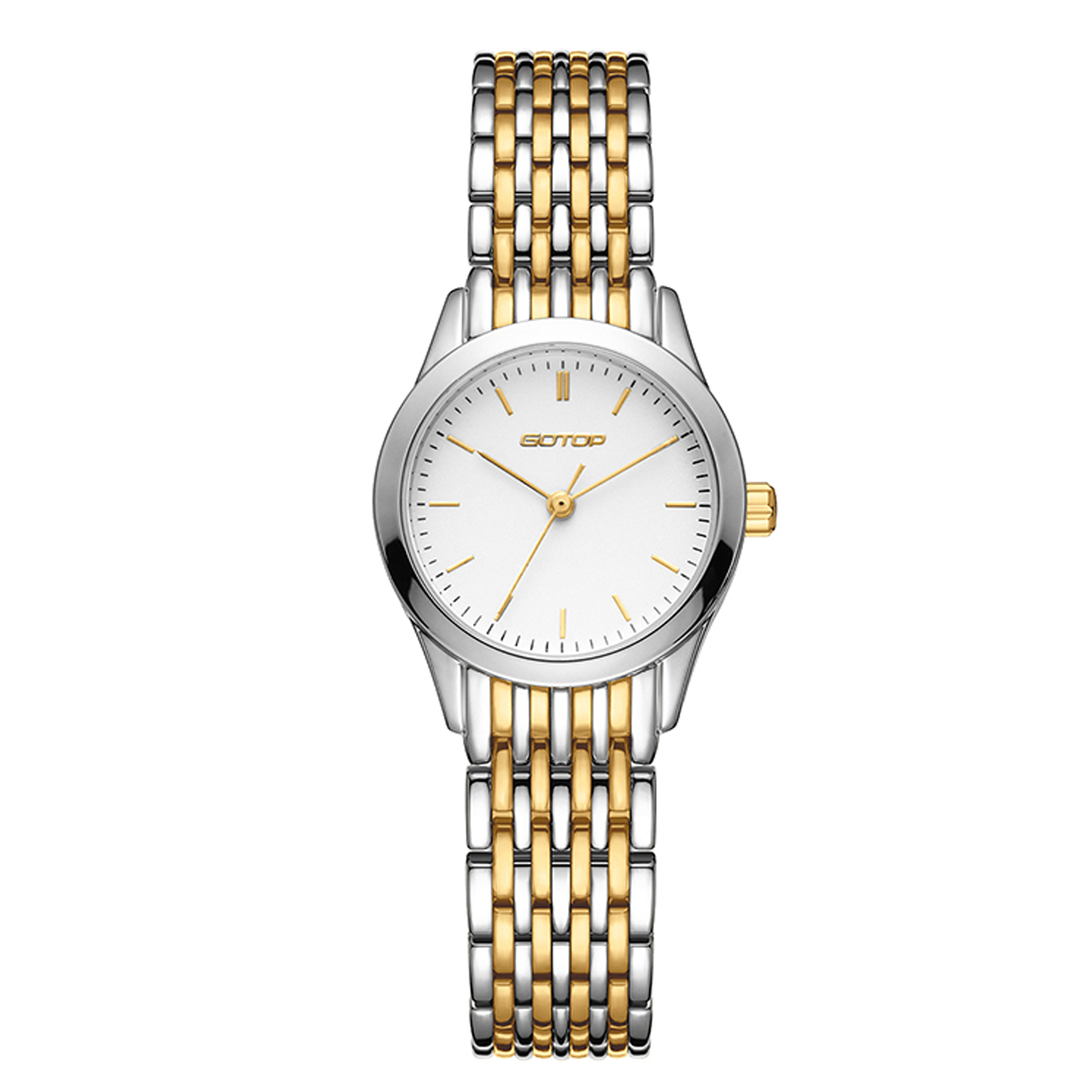 Two Tone Gold And Silver Stainless Steel Women's Watch