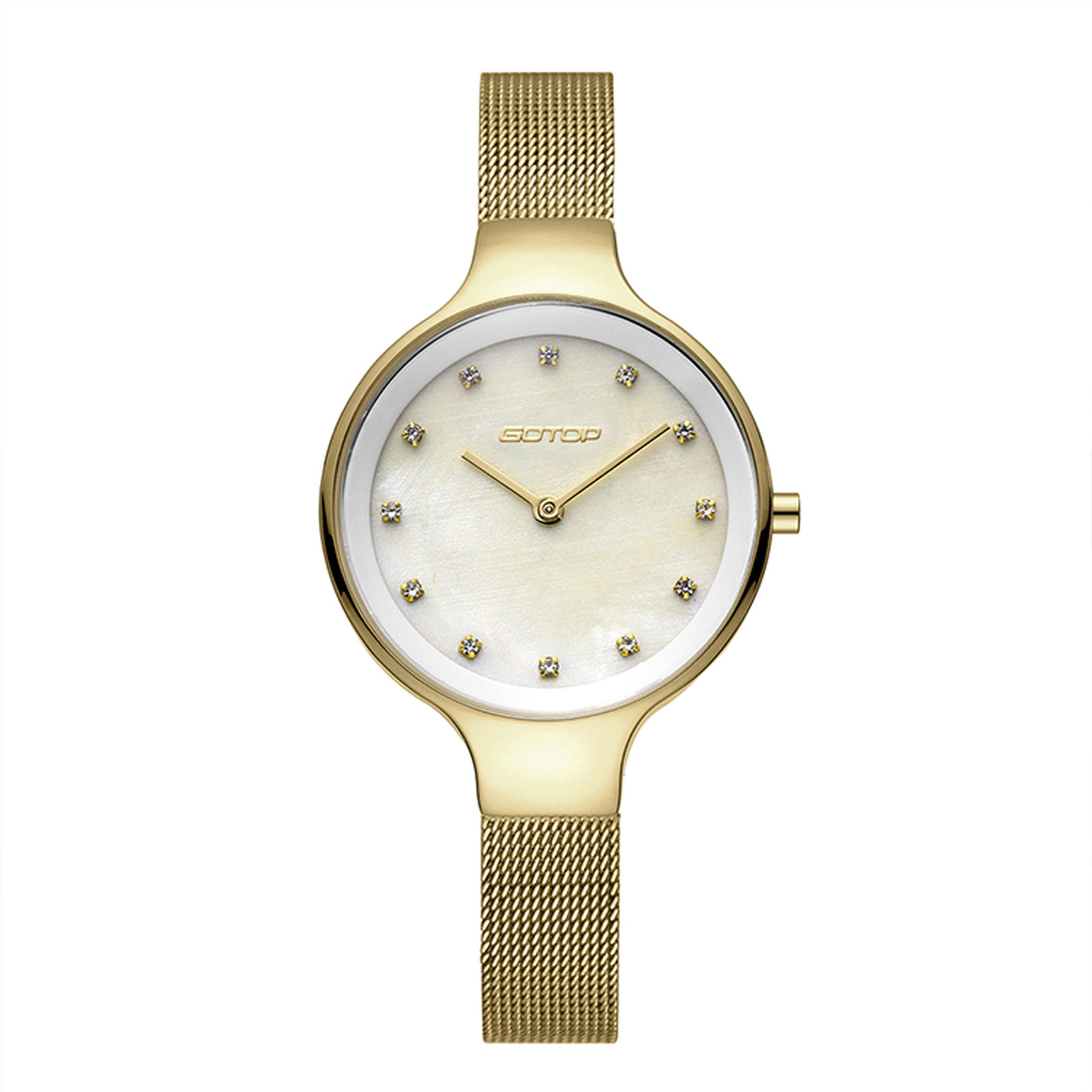 Mother Of Pearl And Gold Women's Watch