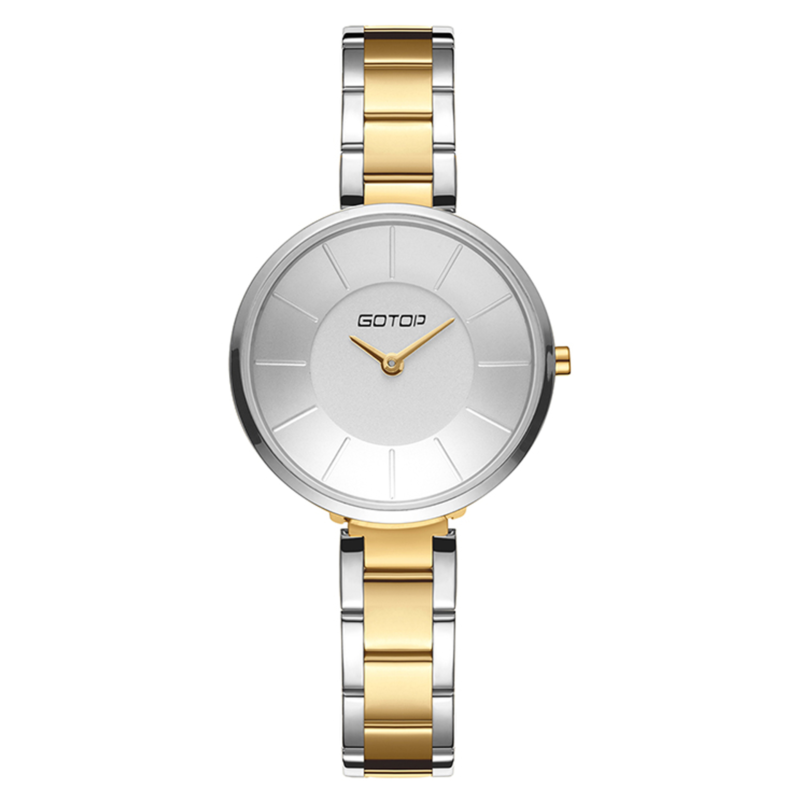 Silver And Gold Stainless Steel Ladies' Watch