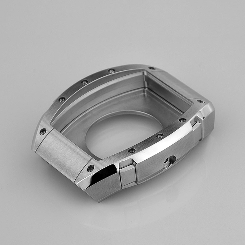 Rectangular Stainless-Steel Watch Case
