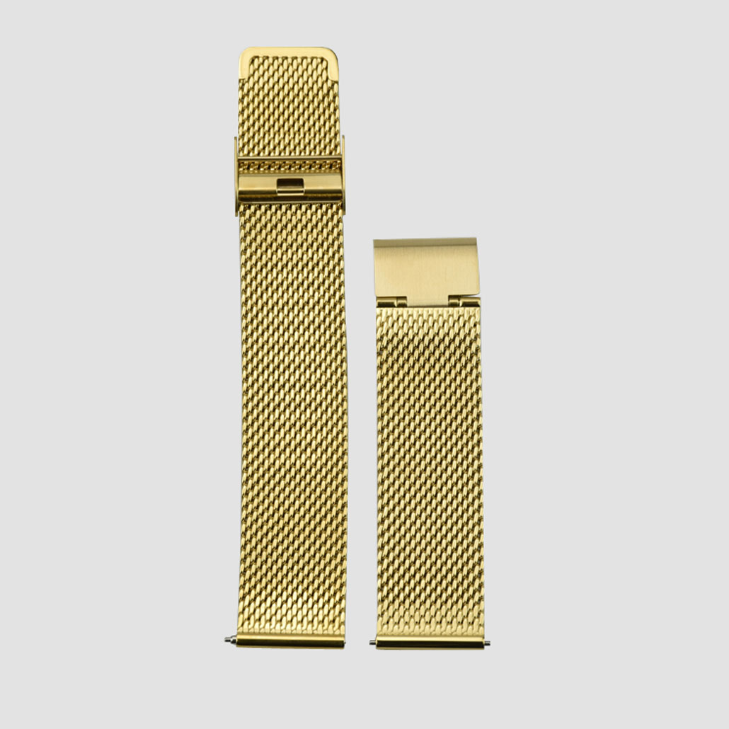 Gold Colored Stainless-steel Watch Band