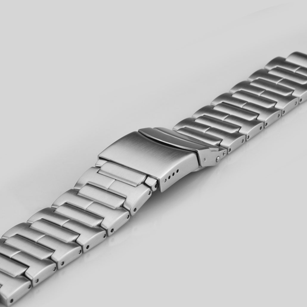 316L Stainless Steel Watch Bracelet With Safety Buckle