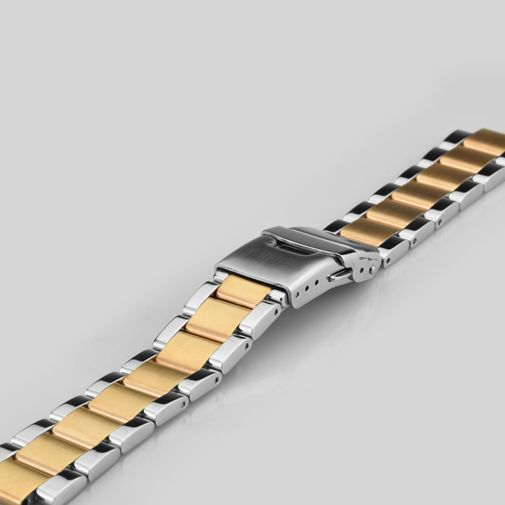 Rose Gold And Silver Stainless-Steel Watch Bracelet