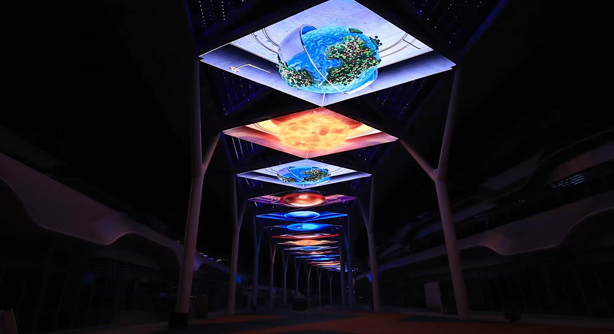 Ceiling Decoration of Astronomy Town in Guizhou China
