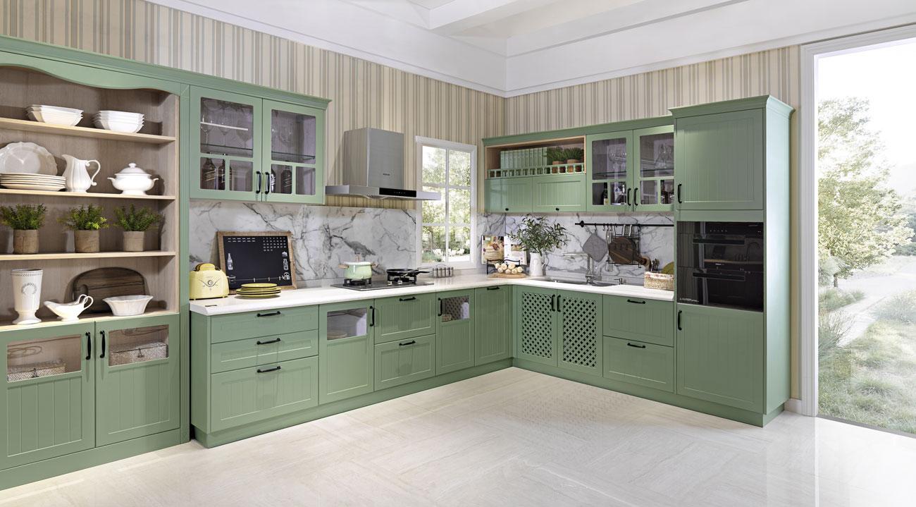 GREEN LIGHT SUMMER Kitchen Cabinets