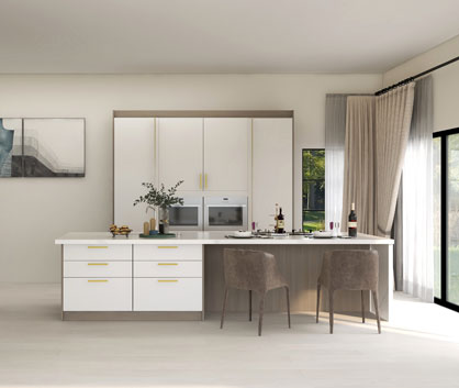Pearl White Kitchen cabinet