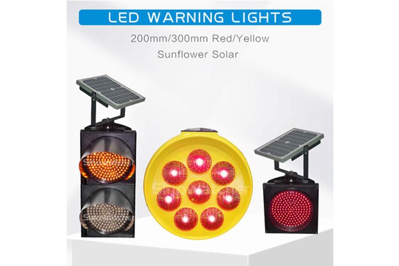 Application of Solar Flashing Warning Lights