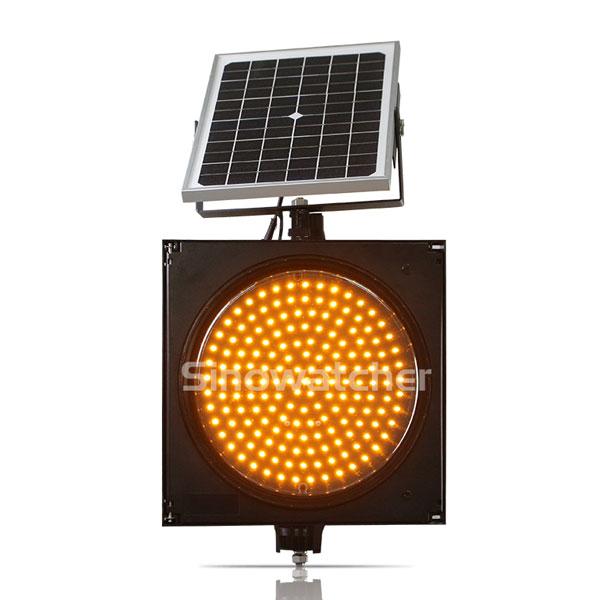 200mm/300mm Red/Yellow One Unit Solar Warning Flashing Light