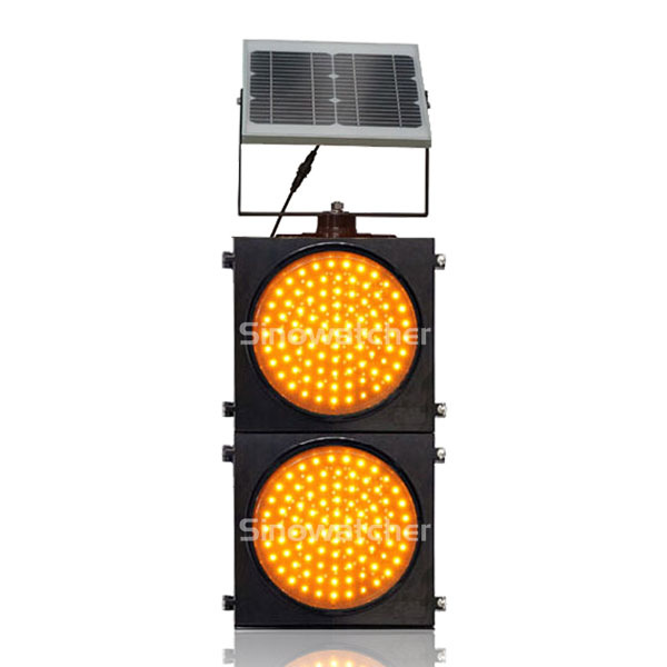 200mm/300mm Red/Yellow Two Units Solar Warning Flashing Light