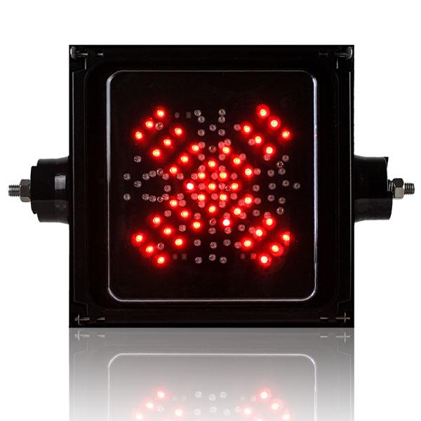 400mm Red Cross + Green Arrow LED Traffic Light