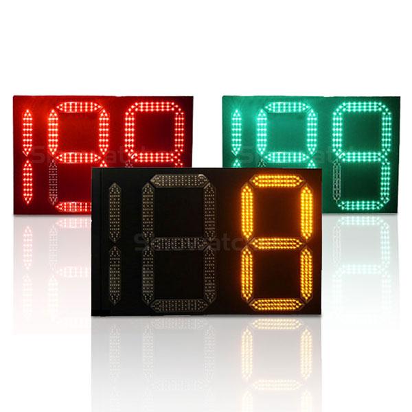 Square Metal Countdown Timer Traffic Light