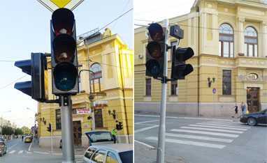 Serbia Traffic Signal Installation