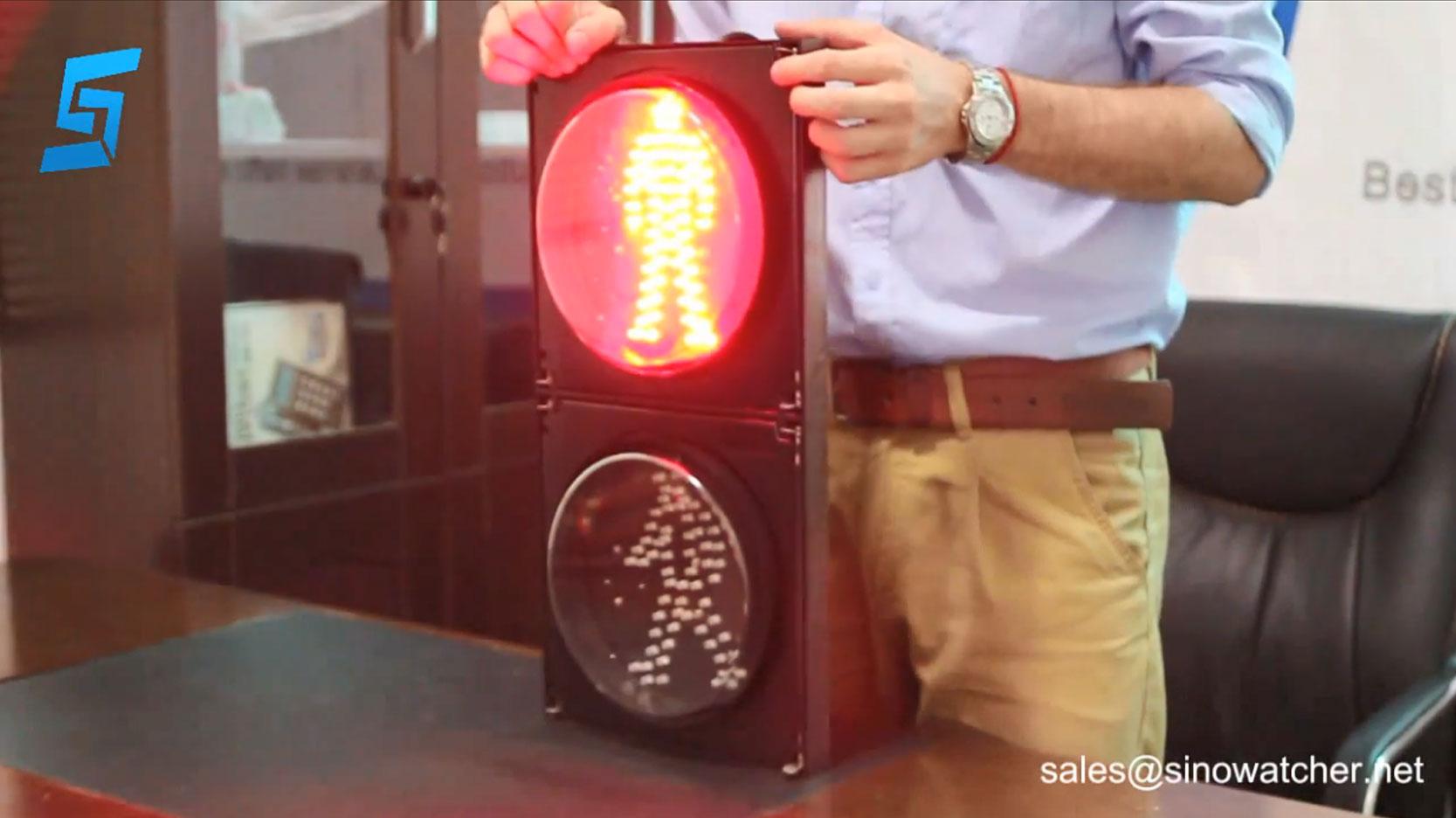 200 mm luz verde roja LED para caminar