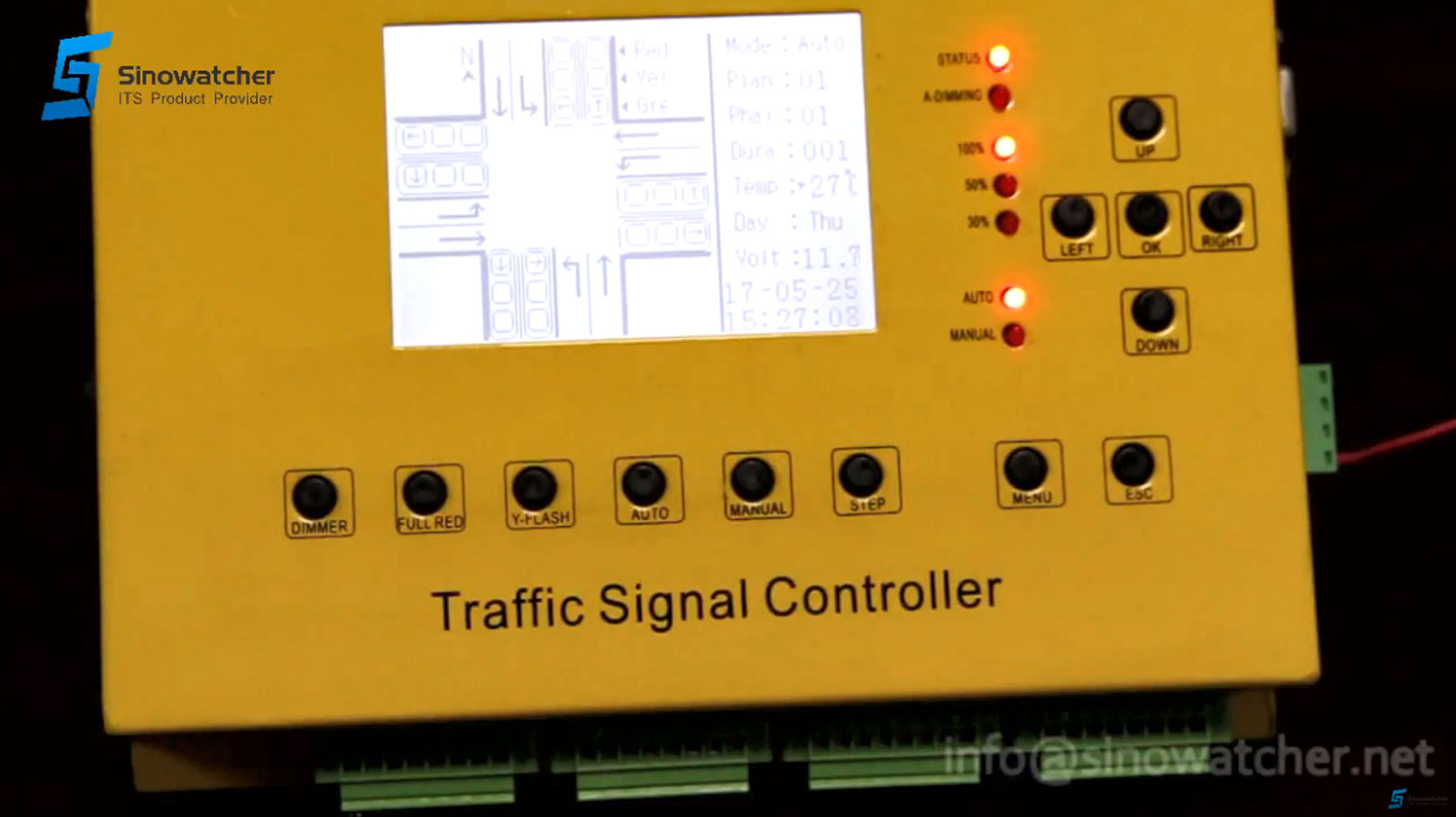 24 output controller (Spanish Version) for mobile traffic application (DC)