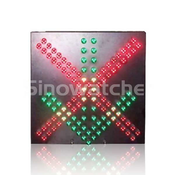 600mm Red Cross + Green Arrow LED Pixel Cluster Traffic Light