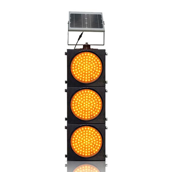 200mm/300mm Red/Yellow Three Units Solar Warning Flashing Light