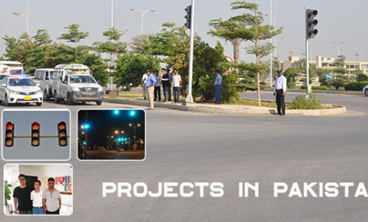 Traffic Actuated Signal control project in Pakistan