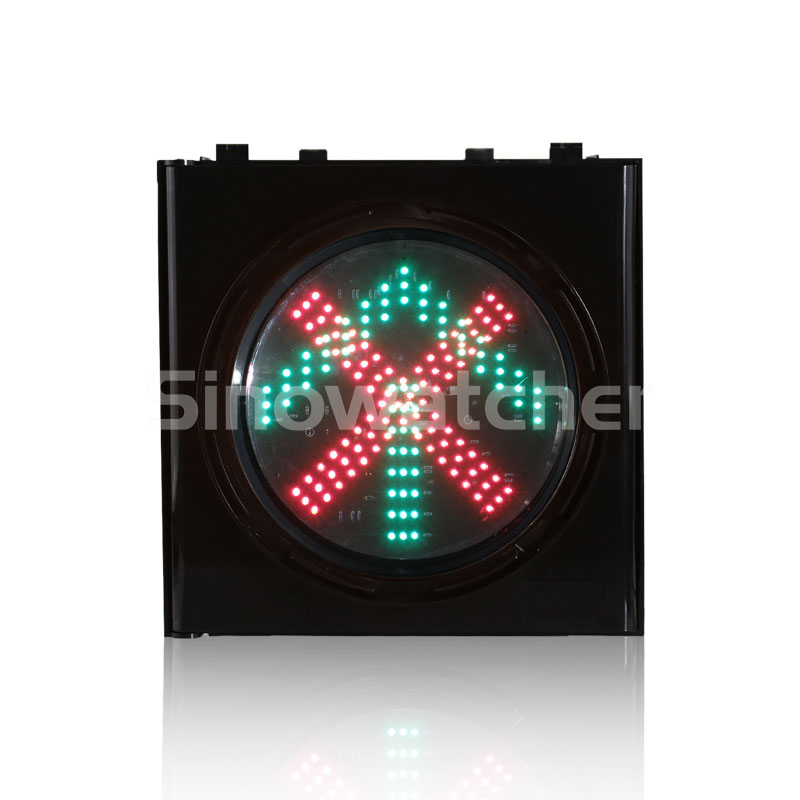 200mm/300mm Red Cross + Green Arrow One Unit Traffic Light