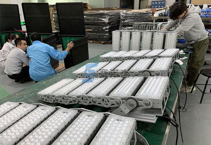 600W Fin Shape Cooling Module Court Lamp