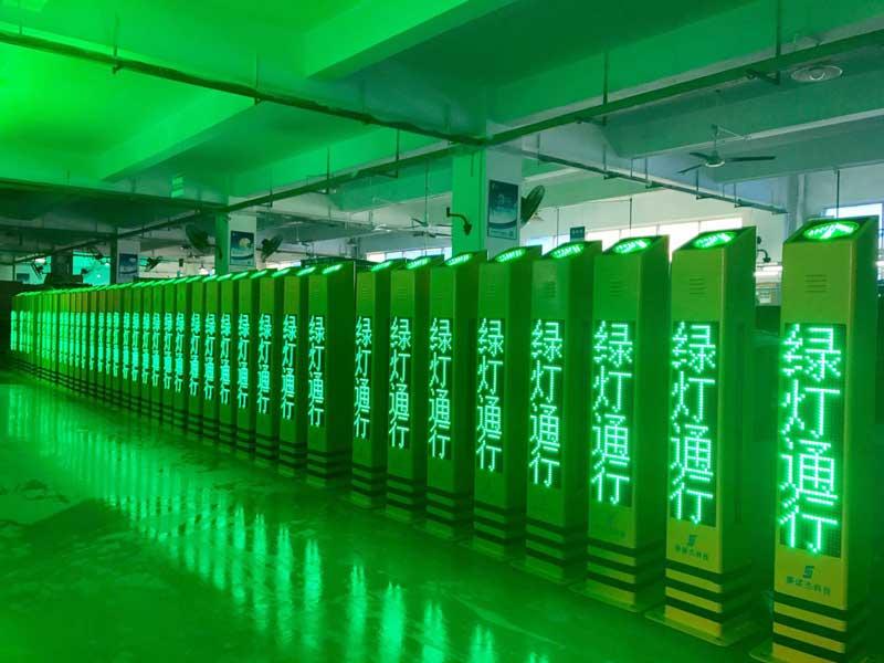 Smart Pedestrian Warning Bollards in Shenzhen