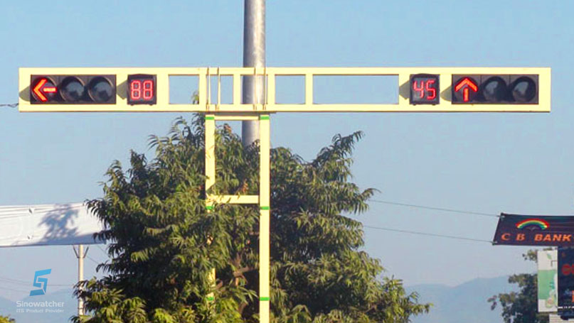 Square Countdown Timer Traffic Light1